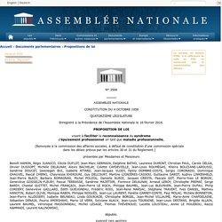 N°3506 - Proposition de loi de M. Benoît Hamon visant à faciliter la reconnaissance du syndrome d'épuisement professionnel en tant que maladie professionnelle