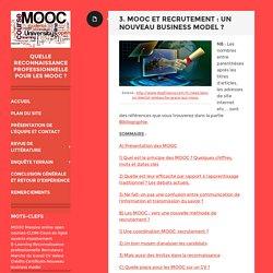 Quelle reconnaissance professionnelle pour les MOOC ?