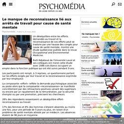 Le manque de reconnaissance lié aux arrêts de travail pour cause de santé mentale