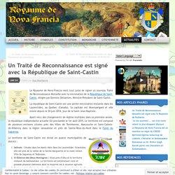 Un Traité de Reconnaissance est signé avec la République de Saint-Castin