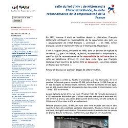 rafle du Vel d'Hiv : de Mitterrand à Chirac et Hollande, la lente reconnaissance de la responsabilité de la France