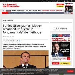 """Sur les Gilets jaunes, Macron reconnaît une """"erreur fondamentale"""" de méthode"""