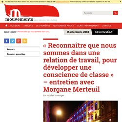 « Reconnaître que nous sommes dans une relation de travail, pour développer une conscience de classe » – entretien avec Morgane Merteuil