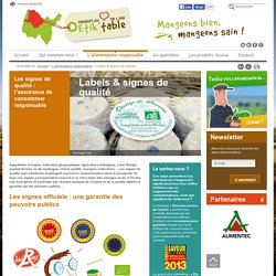 Reconnaître les labels et signes de qualités officiels des aliments
