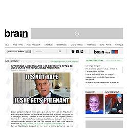 Page Président - Apprenons à reconnaître les différents types de viols grâce aux républicains américains