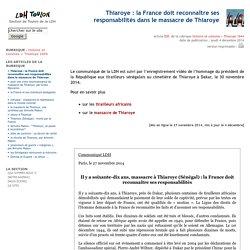 Thiaroye : la France doit reconnaître ses responsabilités dans le massacre de Thiaroye