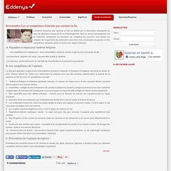 Reconnaitre Les 10 symptômes d'anémie par carence en fer