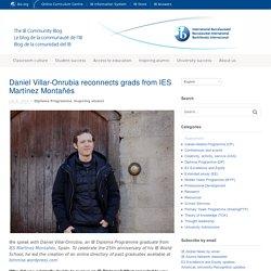 Daniel Villar-Onrubia reconnects grads from IES Martínez Montañés
