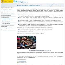 Reconocimiento en Creative Commons