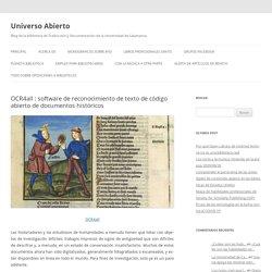 OCR4all : software de reconocimiento de texto de código abierto de documentos históricos