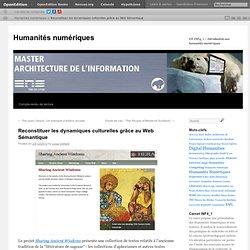 Reconstituer les dynamiques culturelles grâce au Web Sémantique