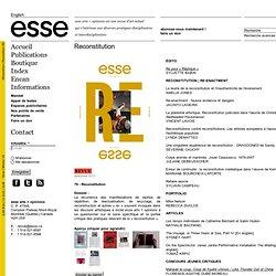 esse arts + opinions
