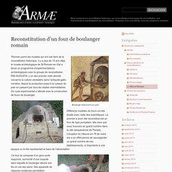 Reconstitution d'un four de boulanger romain