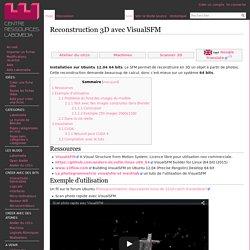 Reconstruction 3D avec VisualSFM (logiciel libre)