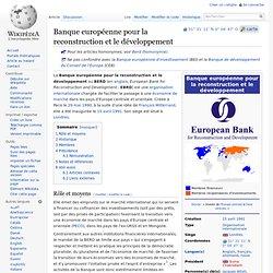 Banque européenne pour la reconstruction et le développement