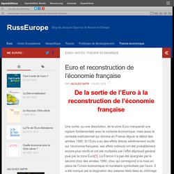 Euro et reconstruction de l'économie française – RussEurope