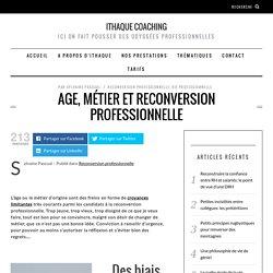 Age, métier et reconversion professionnelle