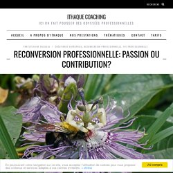 Reconversion professionnelle: passion ou contribution?