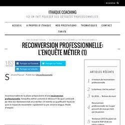 Reconversion professionnelle: l'enquête métier