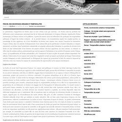 Friche, reconversion urbaine et temporalités