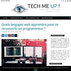 Quels langages web apprendre pour se reconvertir en programmeur?