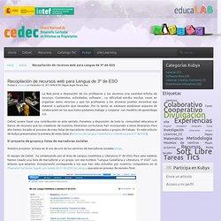 Recopilación de recursos web para Lengua de 3º de ESO