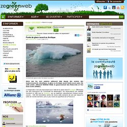 Fonte de glace record en Arctique