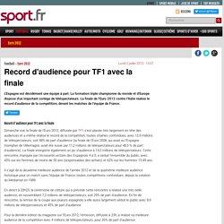 Record d'audience pour TF1 avec la finale - Euro 2012