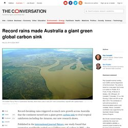 Record rains made Australia a giant green global carbon sink