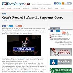 Cruz's Record Before the Supreme Court
