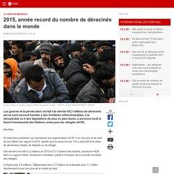 2015, année record du nombre de déracinés dans le monde
