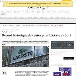 Record historique de ventes pour Lacoste en 2011