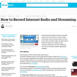 Easy Ways to Record Internet Radio and Streaming Audio
