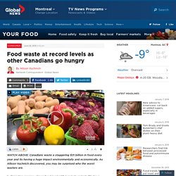 GLOBALNEWS 25/06/15 Food waste at record levels as other Canadians go hungry