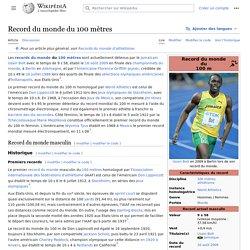 Record du monde du 100 mètres