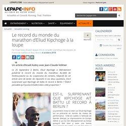 Le record du monde du marathon d'Eliud Kipchoge à la loupe