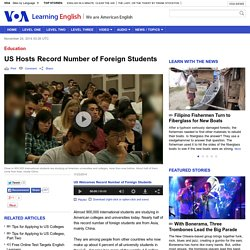 US Hosts Record Number of Foreign Students