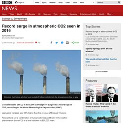 Record surge in atmospheric CO2 seen in 2016
