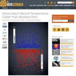 Atoms Reach Record Temperature, Colder than Absolute Zero
