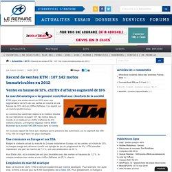 Record de ventes KTM : 107.142 motos immatriculées en 2012