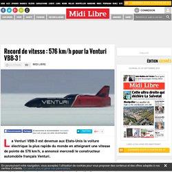 Record de vitesse : 576 km/h pour la Venturi VBB-3 !