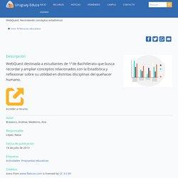 WebQuest: Recordando conceptos estadísticos