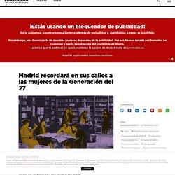 Madrid recordará en sus calles a las mujeres de la Generación del 27