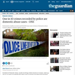 One in 10 crimes recorded by police are domestic abuse cases – ONS