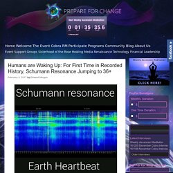 Humans are Waking Up: For First Time in Recorded History, Schumann Resonance Jumping to 36+ – Prepare for Change