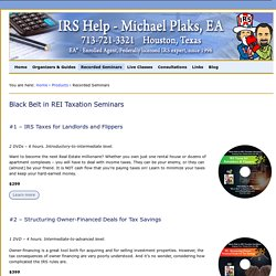 Taxation for Real Estate investors - Michael Plaks