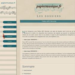 Enregistreur audio freeware au format MP3 - PaMus MP3 Recorder