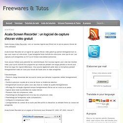un logiciel de capture d'écran vidéo gratuit