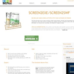 Scree2Exe-record screen with smallest file