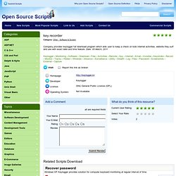 key recorder Open Source Software Scripts CMS PHP ASP NET PERL CGI JAVA JAVASCRIPT
